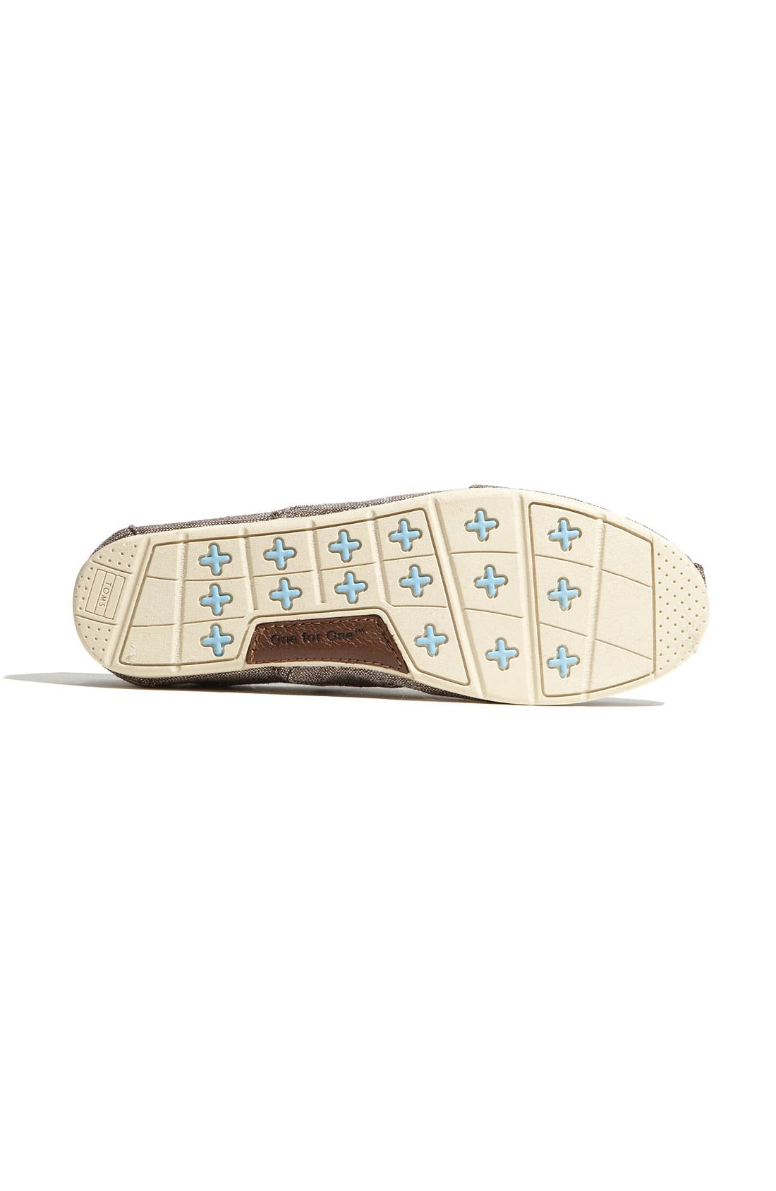 Alternate Image 4  - TOMS 'Cordones' Metallic Slip-On (Women)