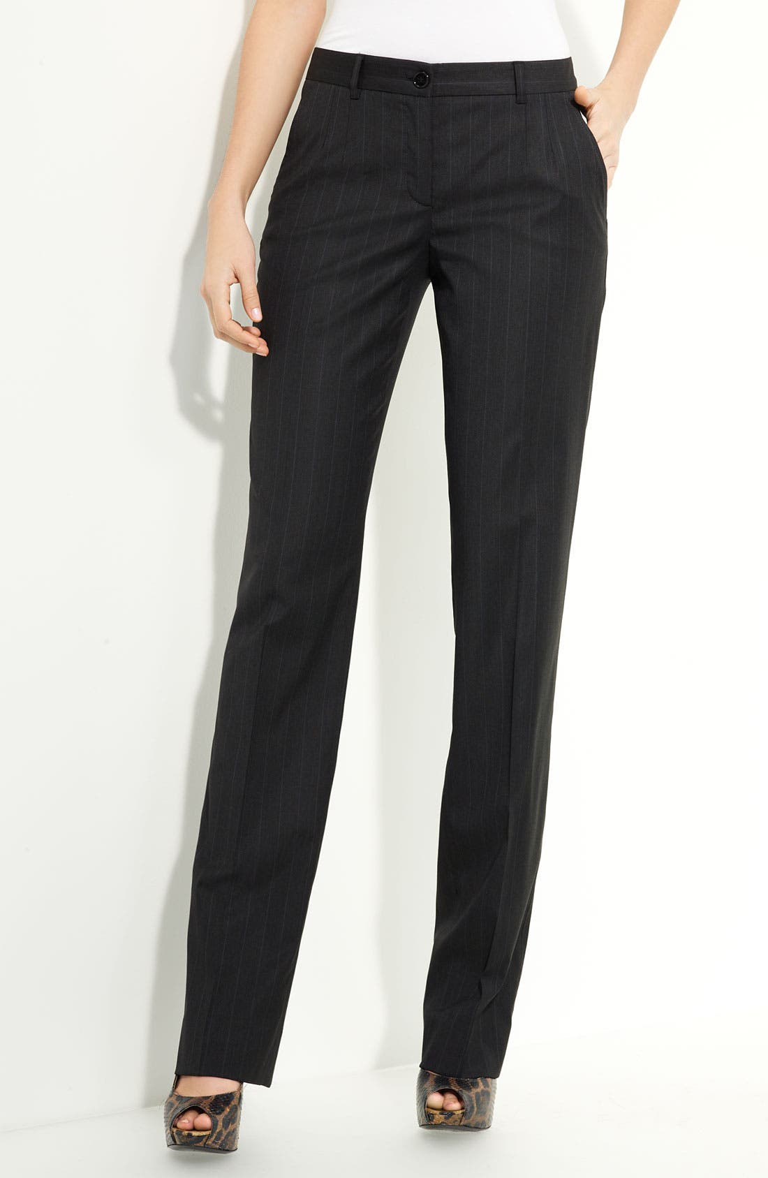 Alternate Image 2  - Dolce&Gabbana Stretch Wool Pinstripe Pants