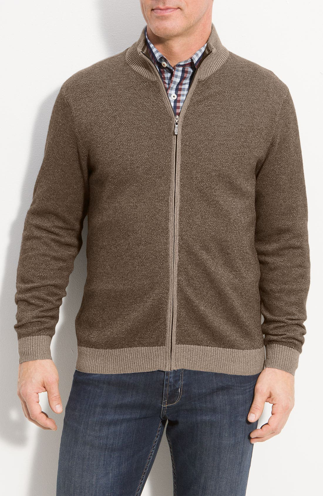 Alternate Image 1 Selected - Tommy Bahama 'Firenze' Zip Front Sweater