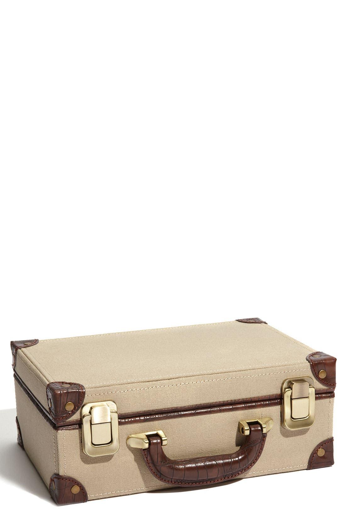 Main Image - Nordstrom LusterLoc™ Canvas Jewelry Suitcase
