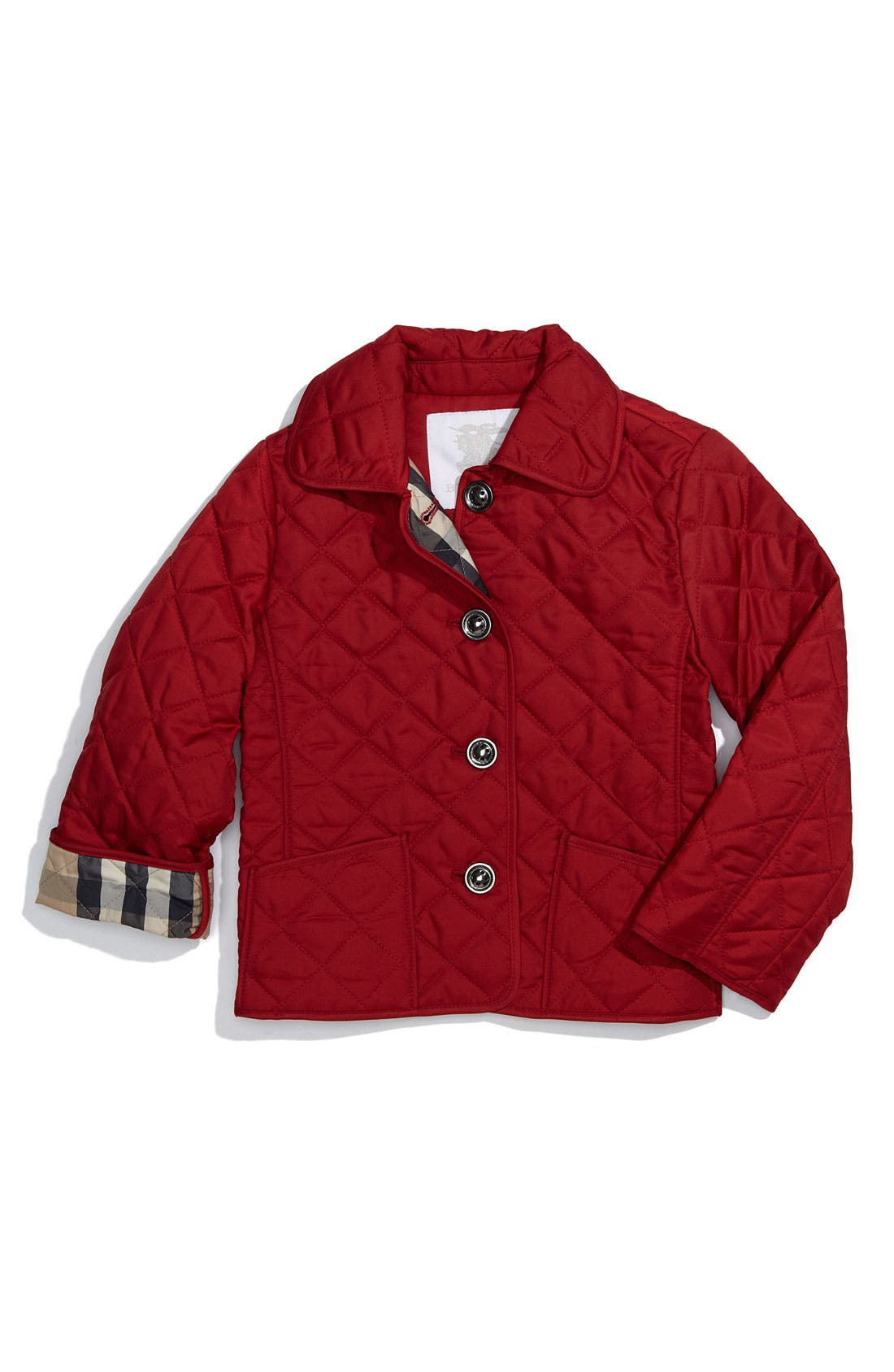 Alternate Image 1 Selected - Burberry Quilted Jacket (Toddler)
