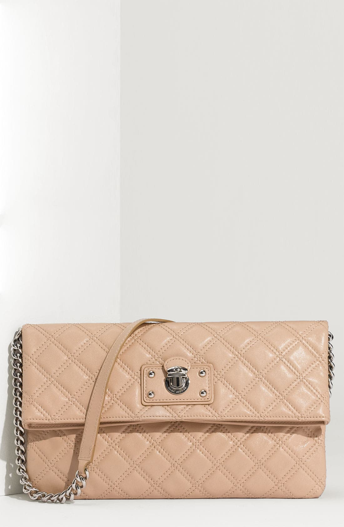 Main Image - MARC JACOBS 'Quilting Sandy' Lambskin Leather Clutch