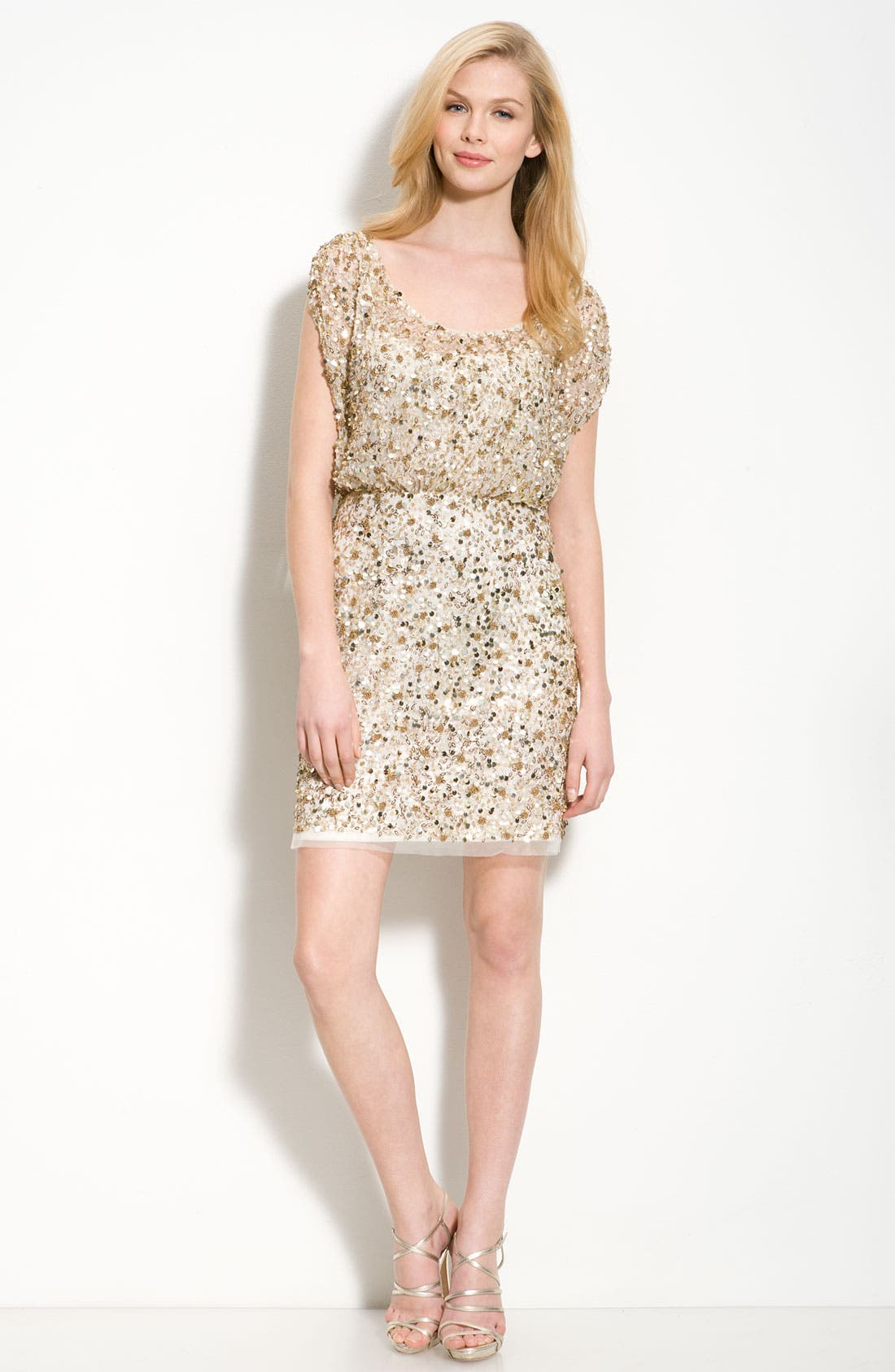 Alternate Image 3  - Aidan Mattox Beaded Blouson Dress