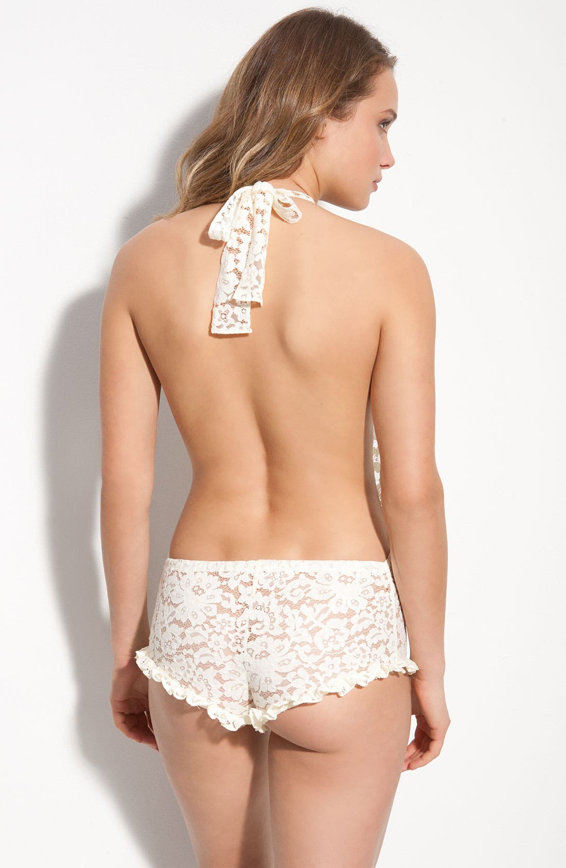 'All Things Nice' Lace Teddy,                             Alternate thumbnail 2, color,                             Sugar