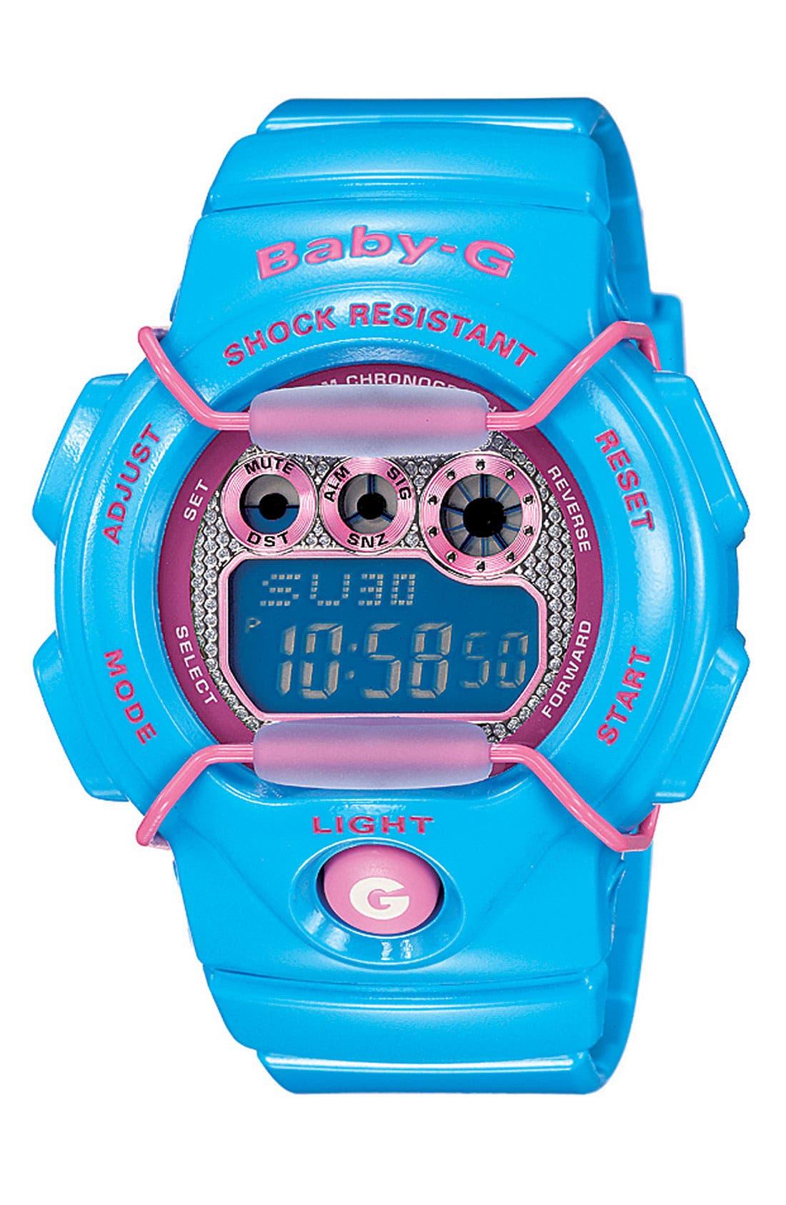 Main Image - Baby-G 'Tropical Paradise' Digital Watch, 44m x 40mm
