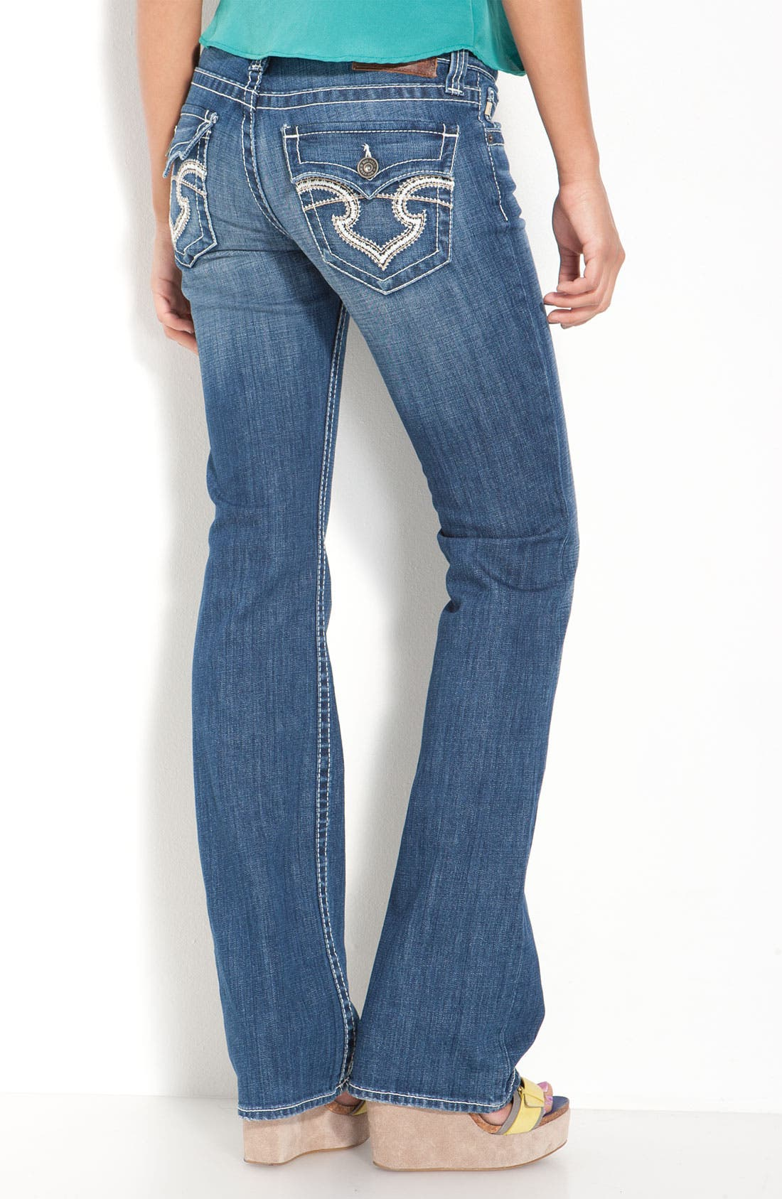 Alternate Image 1 Selected - Big Star 'Remy' Bootcut Jeans (Junction Wash) (Juniors Regular & Long)