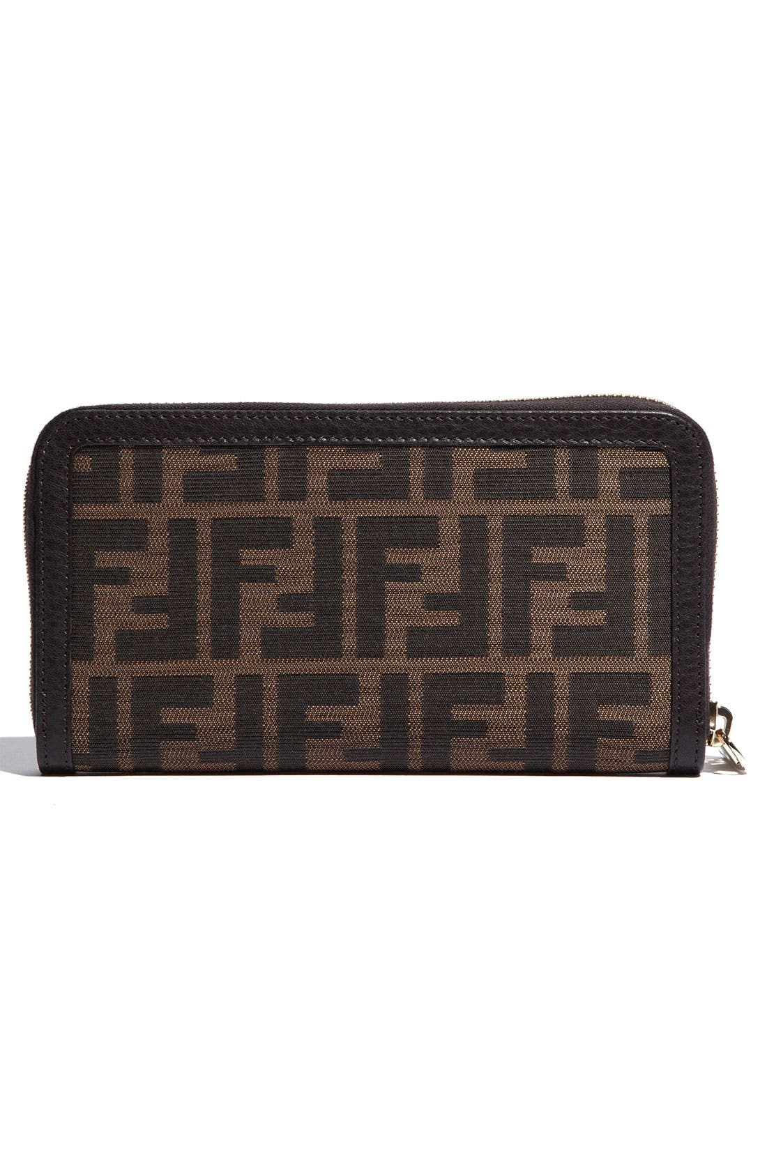 Alternate Image 4  - Fendi 'Zucca' Zip Around Wallet
