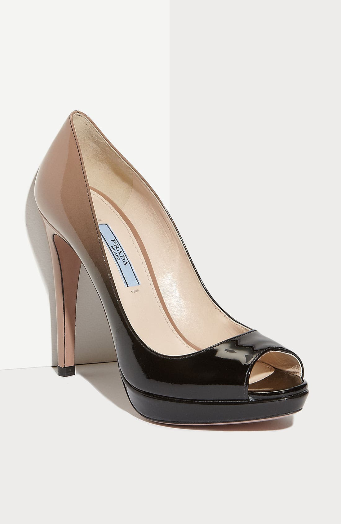 Alternate Image 1 Selected - Prada Dégradé Peep Toe Pump (Nordstrom Exclusive Color)