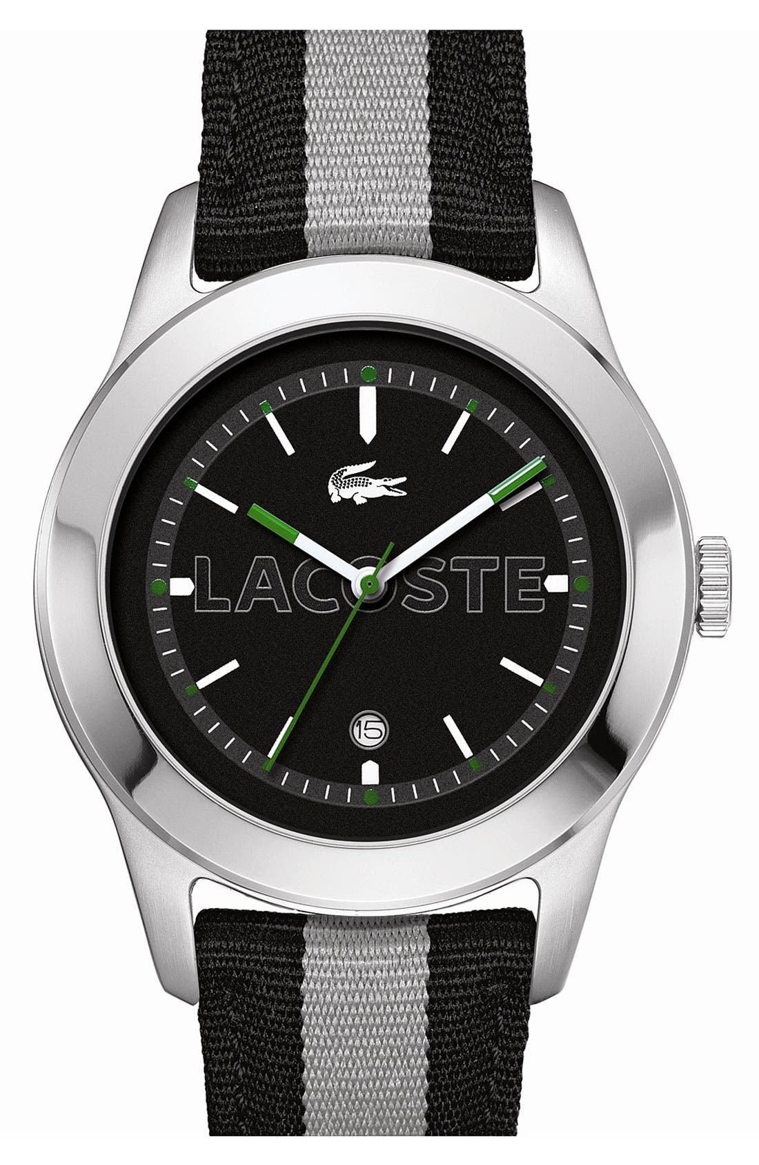 Alternate Image 1 Selected - Lacoste 'Advantage' Grosgrain Strap Watch, 42mm