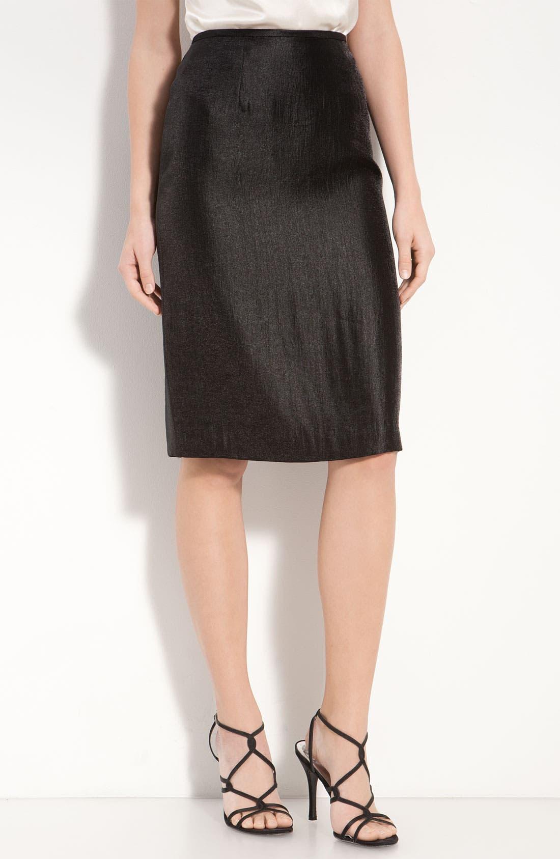 Alternate Image 1 Selected - Adrianna Papell Metallic Pencil Skirt