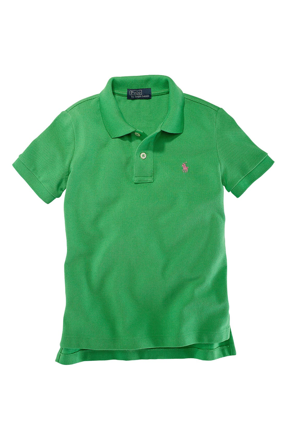 Alternate Image 1 Selected - Ralph Lauren Mesh Polo (Toddler)