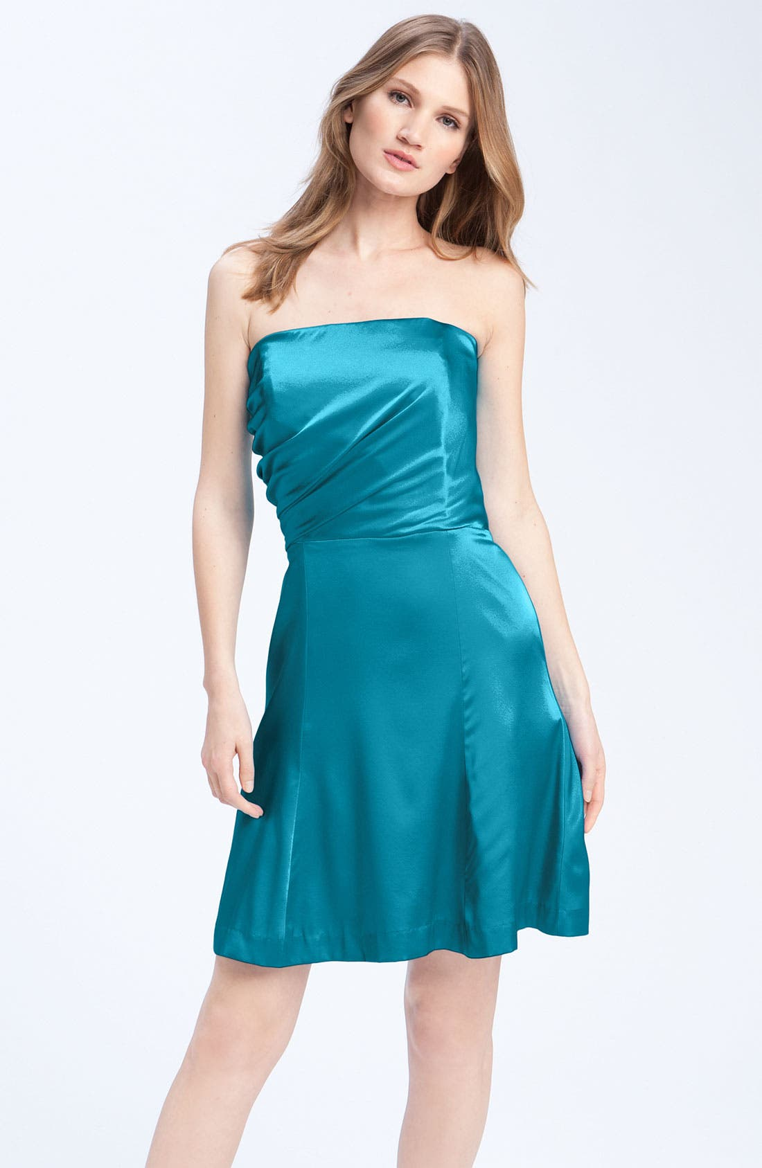 Alternate Image 1 Selected - Anna Elyse Bridesmaids Strapless Charmeuse Dress