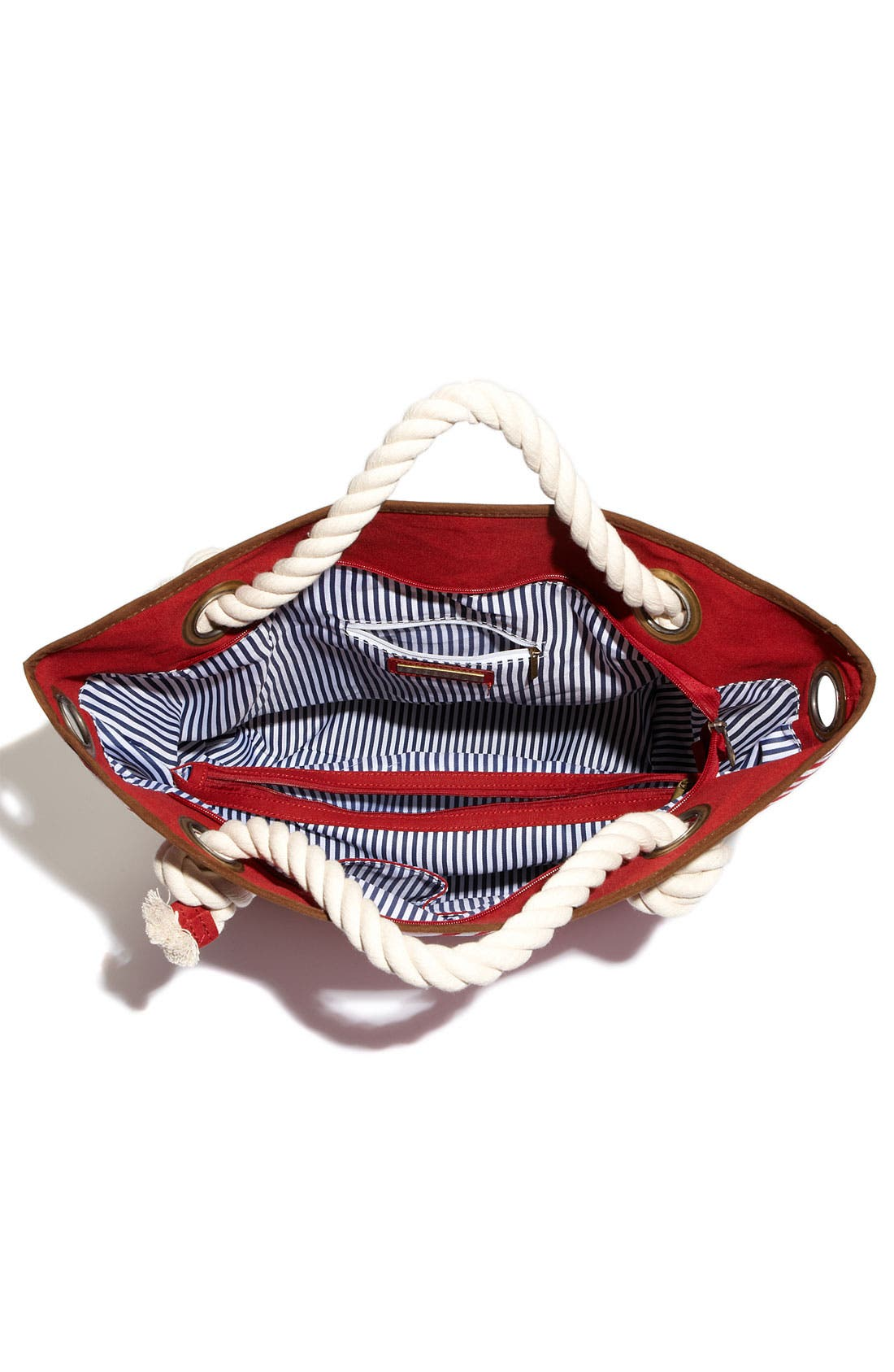 Alternate Image 3  - Street Level Nautical Stripe Canvas Tote