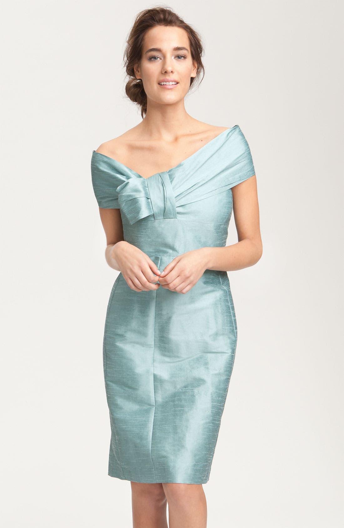 Alternate Image 7  - Anna Elyse Bridesmaids Convertible Shantung Dress