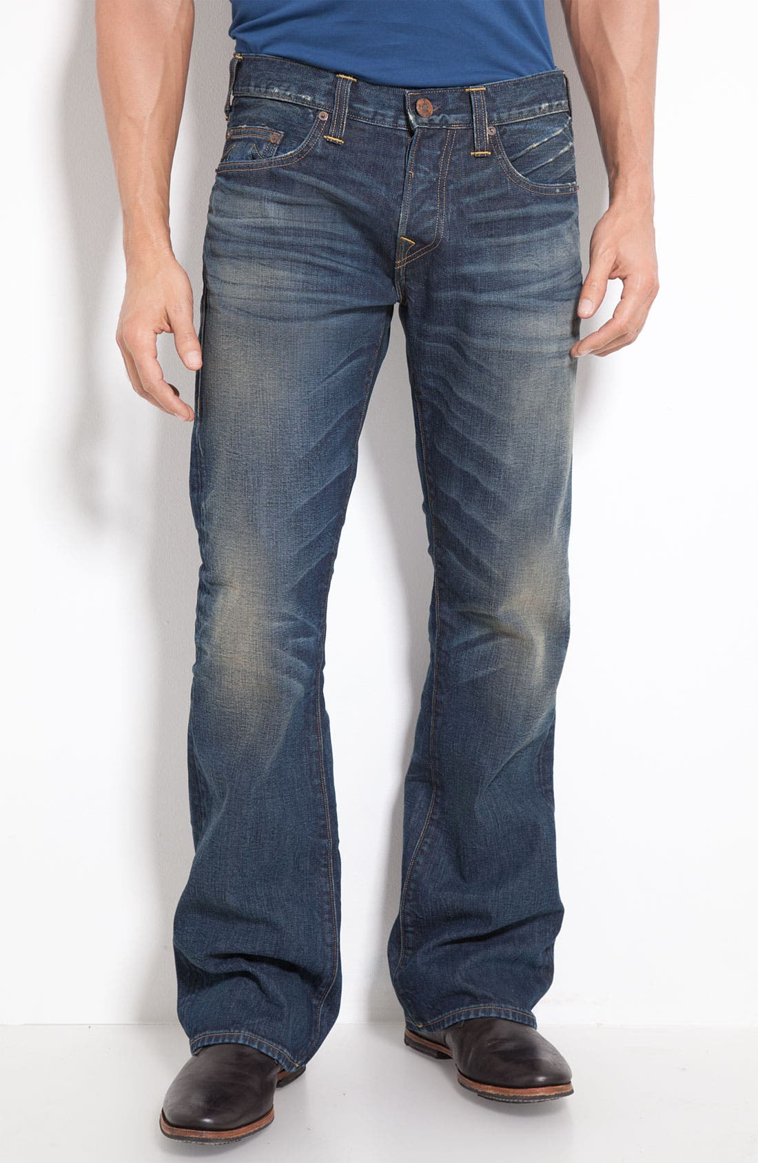 Alternate Image 2  - True Religion Brand Jeans 'Danny Phoenix' Bootcut Jeans (Blue Grass)