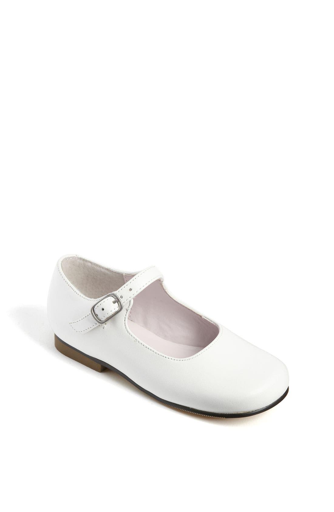 'Bonnett' Mary Jane,                             Main thumbnail 1, color,                             White Leather