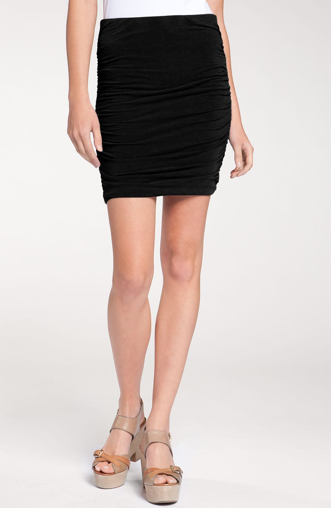 Main Image - James Perse Fitted Ruched Miniskirt