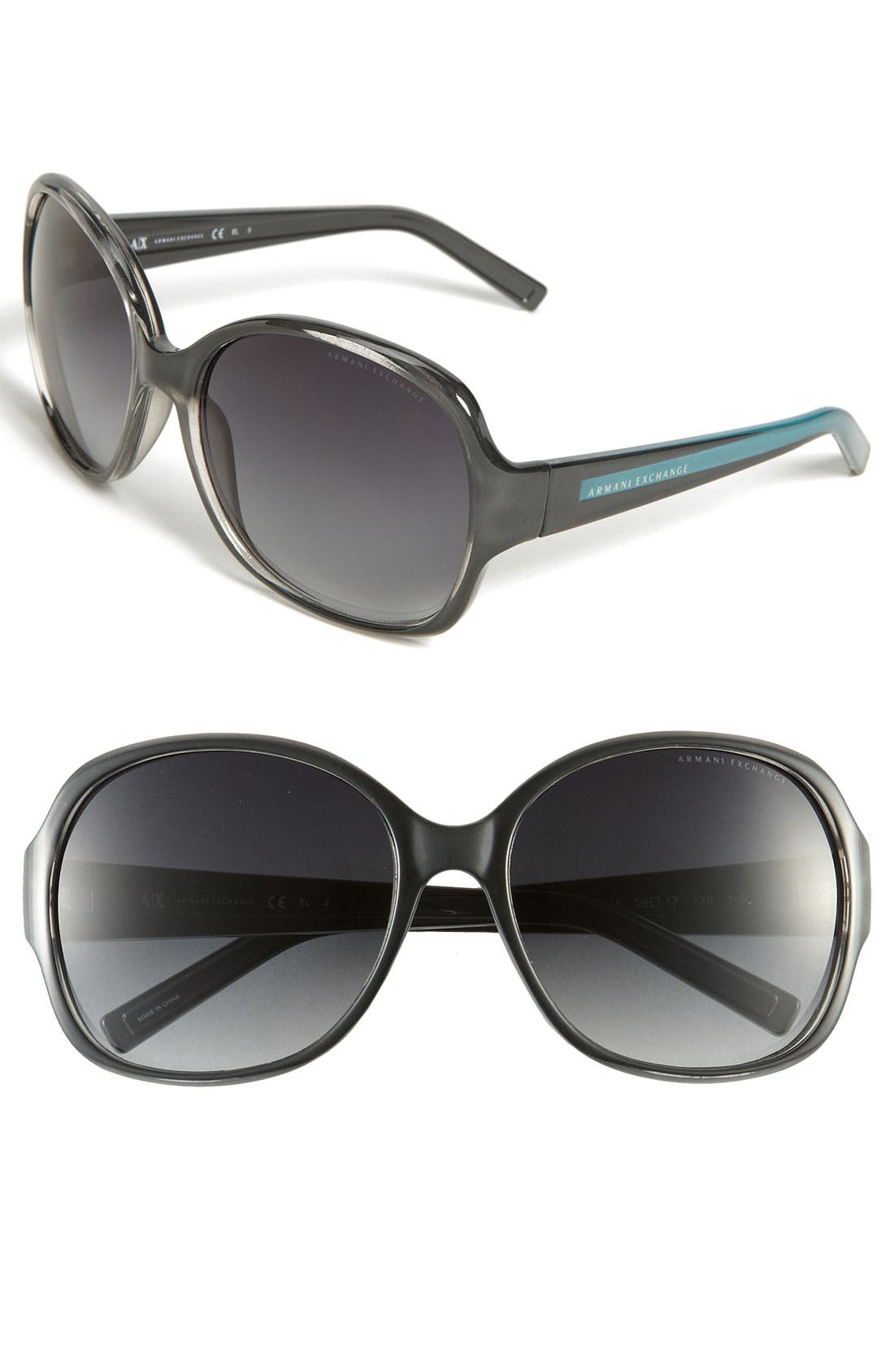 Alternate Image 1 Selected - AX Armani Exchange Oversized Square Sunglasses