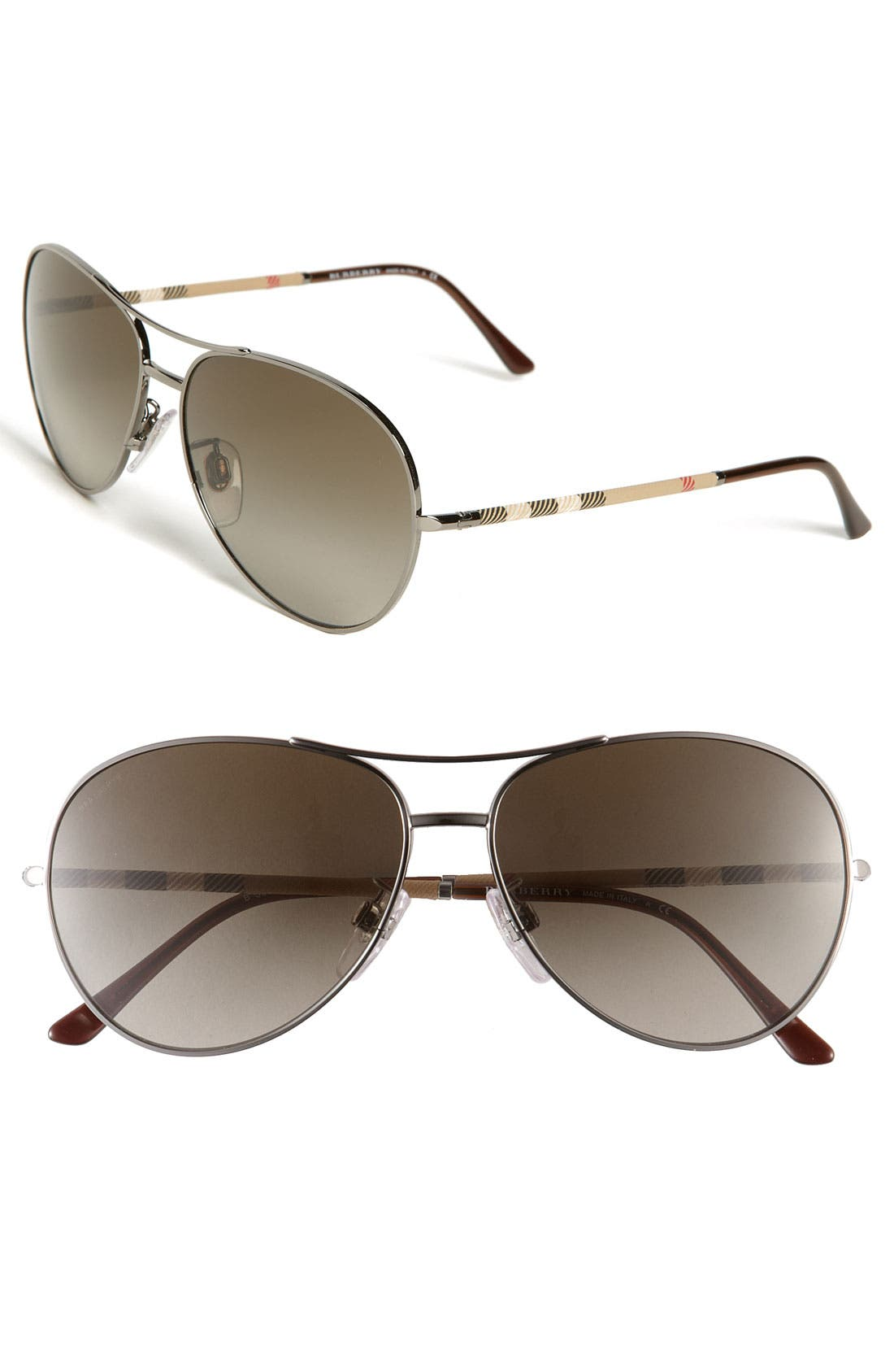 Main Image - Burberry Metal Aviator Sunglasses