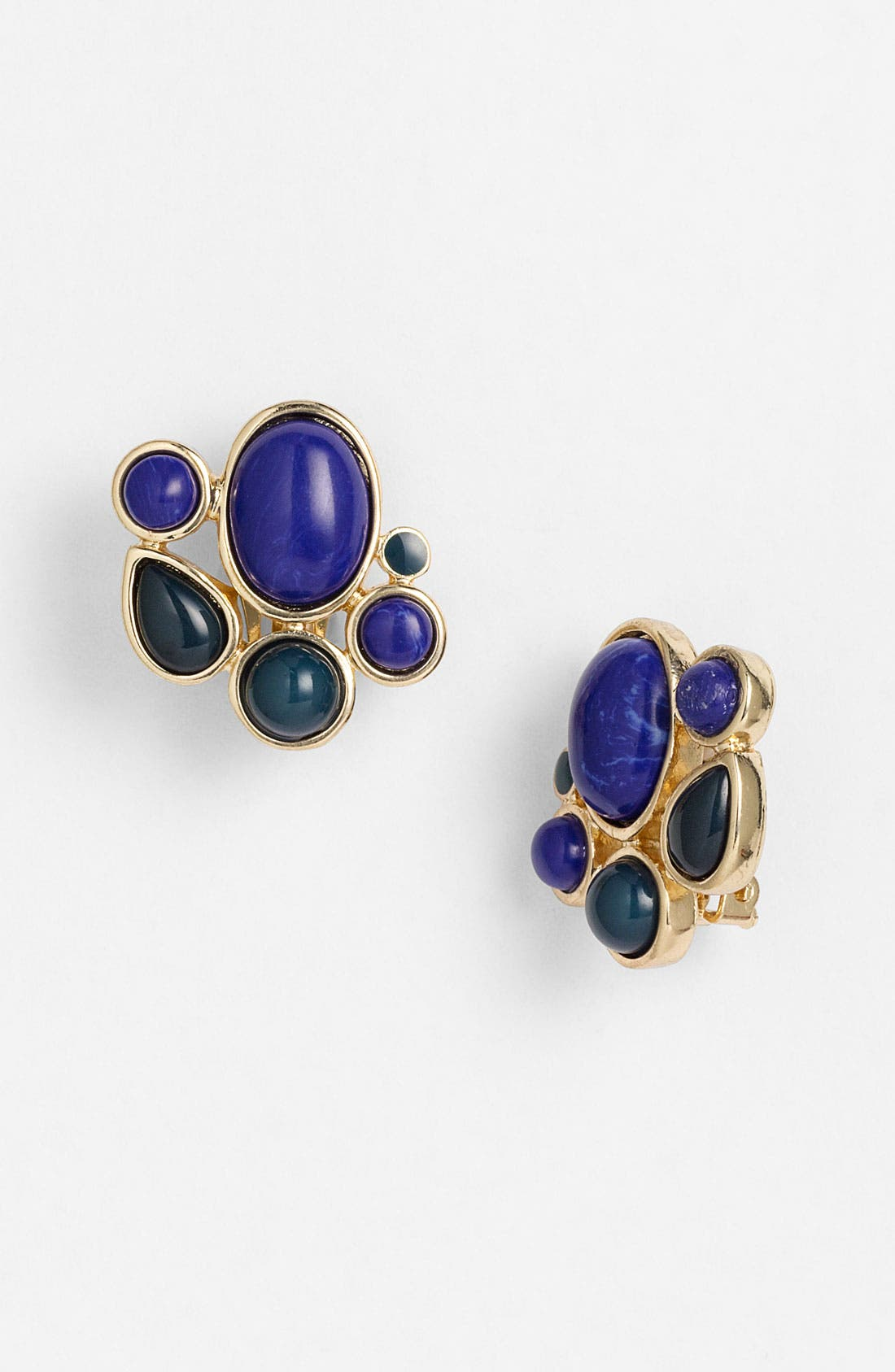 Main Image - Nordstrom 'Lapis of Luxury' Oval Clip Earrings