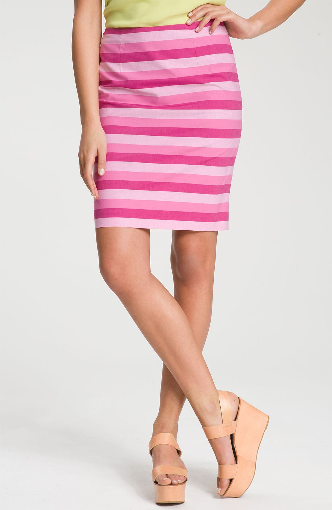Alternate Image 1 Selected - Halogen® Stretch Cotton Blend Pencil Skirt