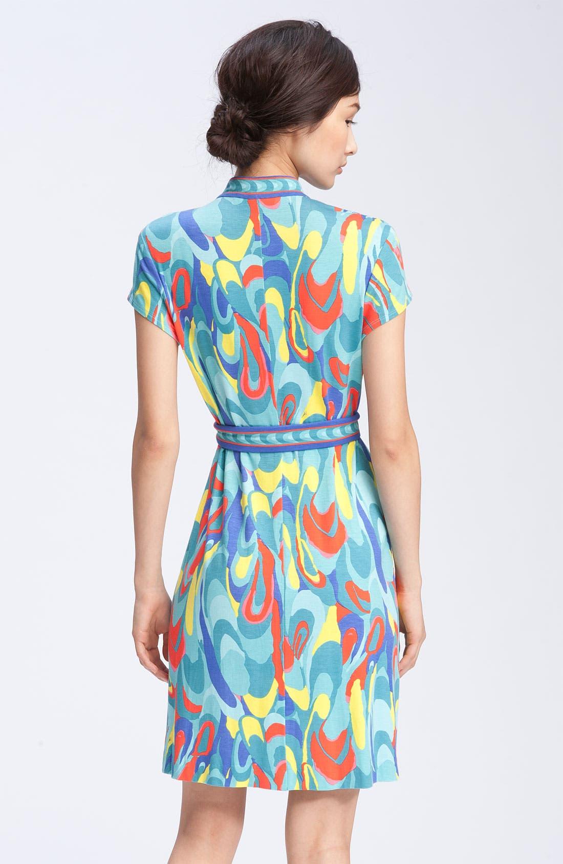 Alternate Image 2  - Trina Turk Print Mandarin Collar Dress