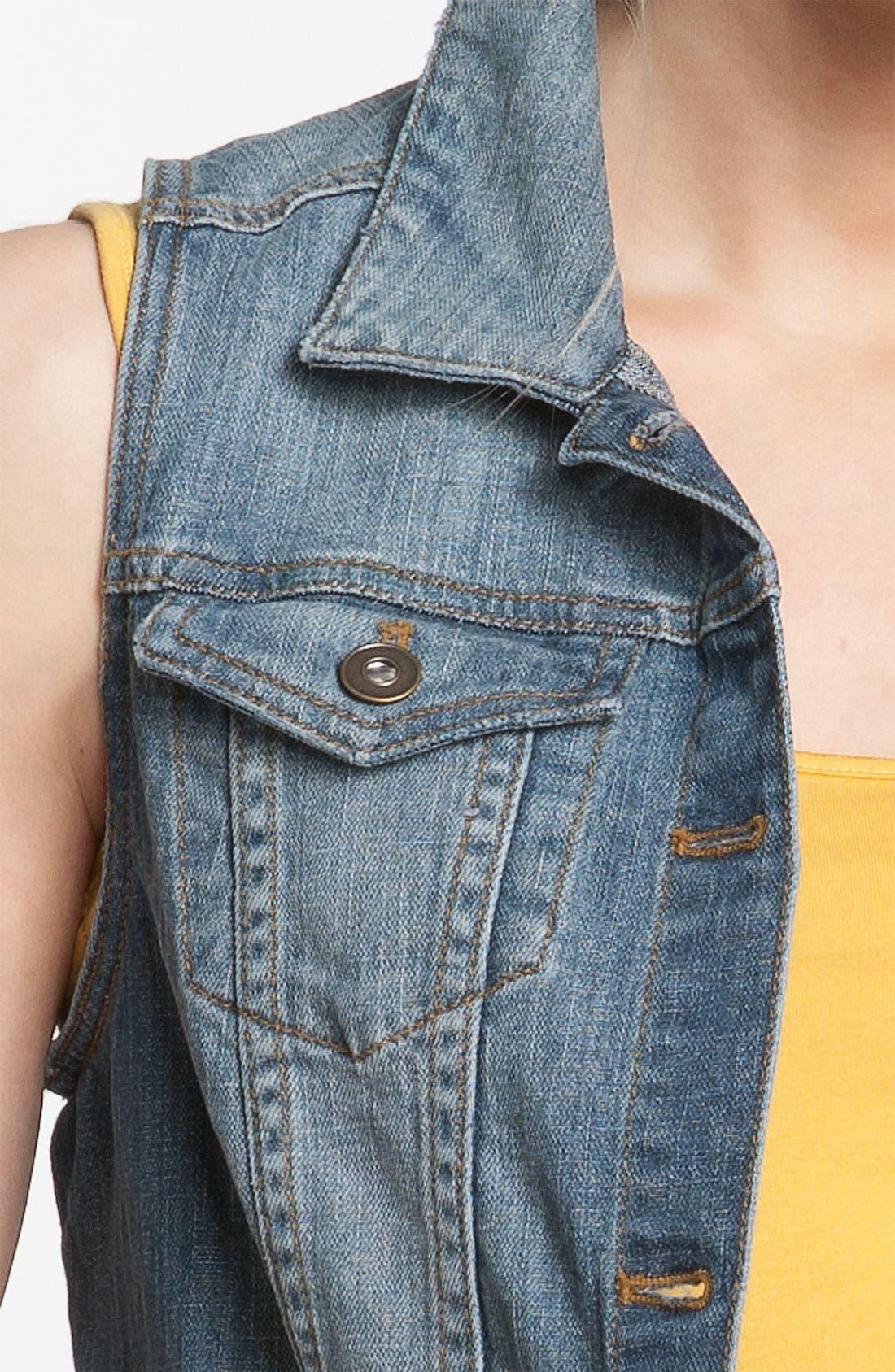Alternate Image 3  - BP. Sleeveless Denim Vest (Juniors)