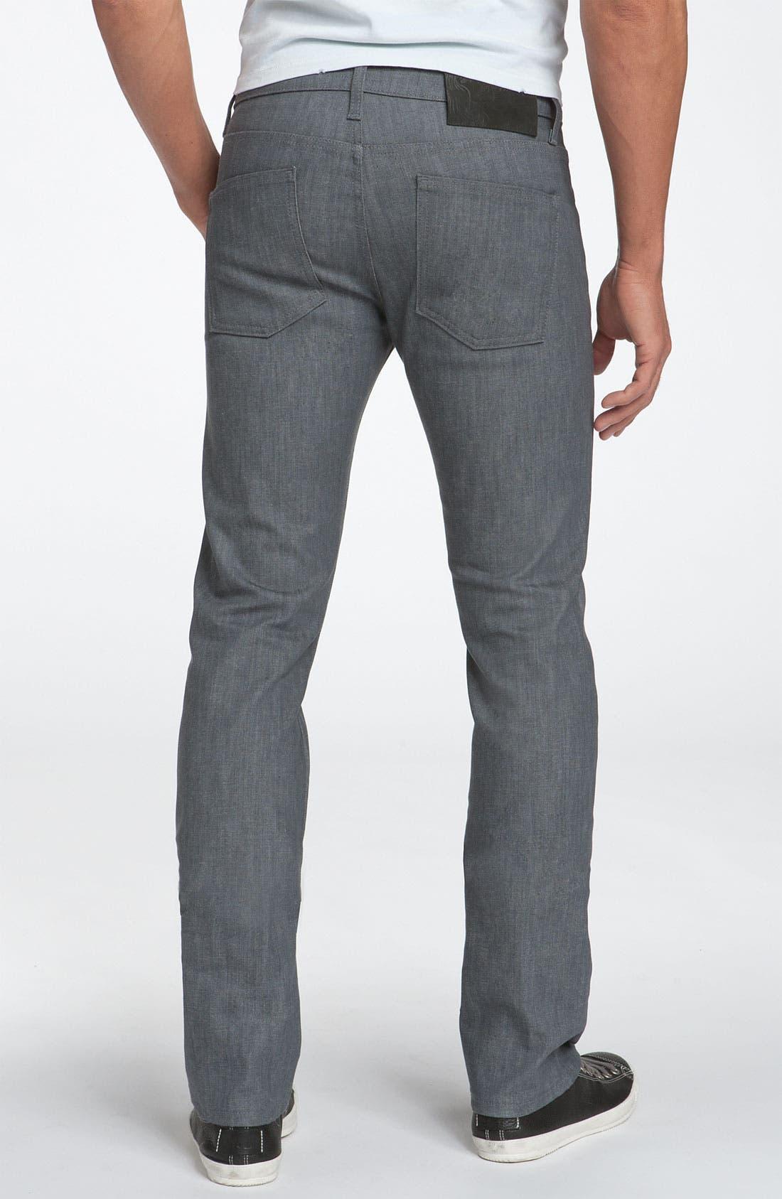 Alternate Image 2  - Naked & Famous Denim 'Skinny Guy' Skinny Fit Jeans (Grey Stretch Wash)