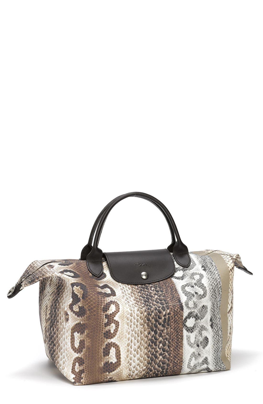 Main Image - Longchamp 'Reptiligne Toile' Handbag