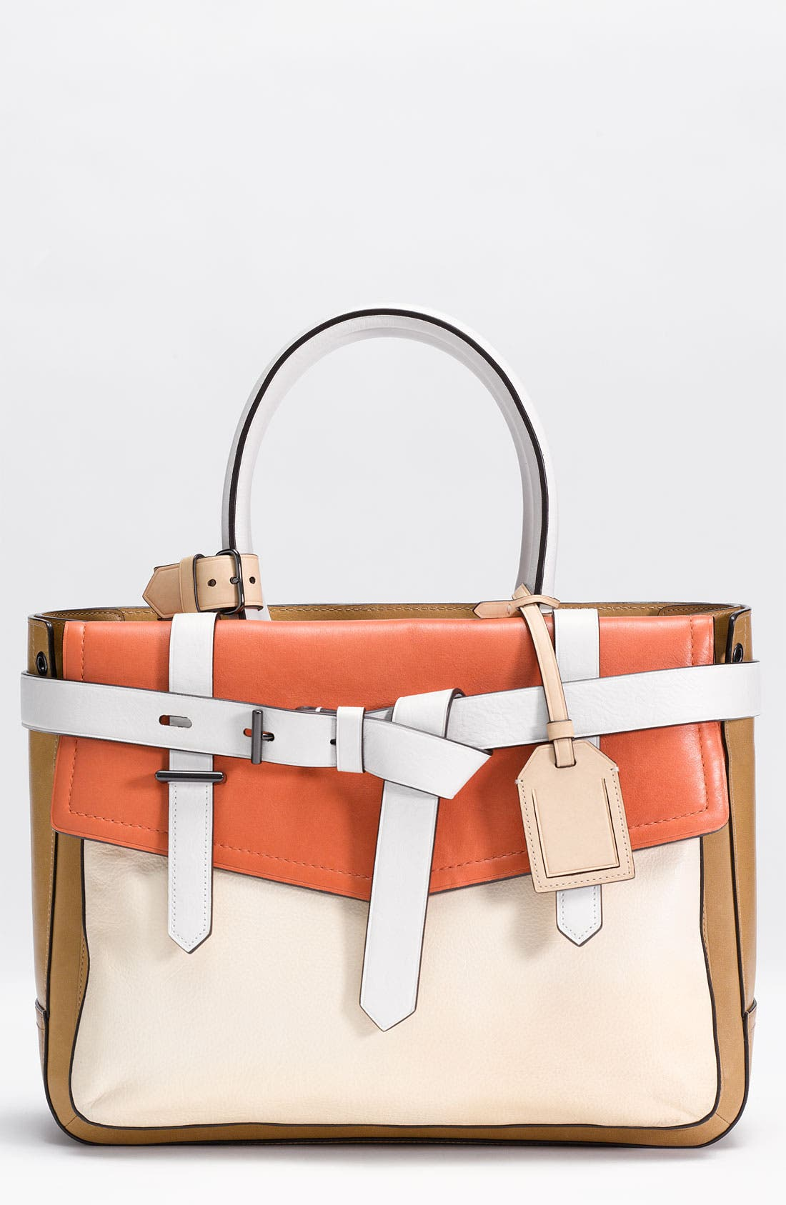 Alternate Image 1 Selected - Reed Krakoff 'Boxer' Tricolor Leather Satchel