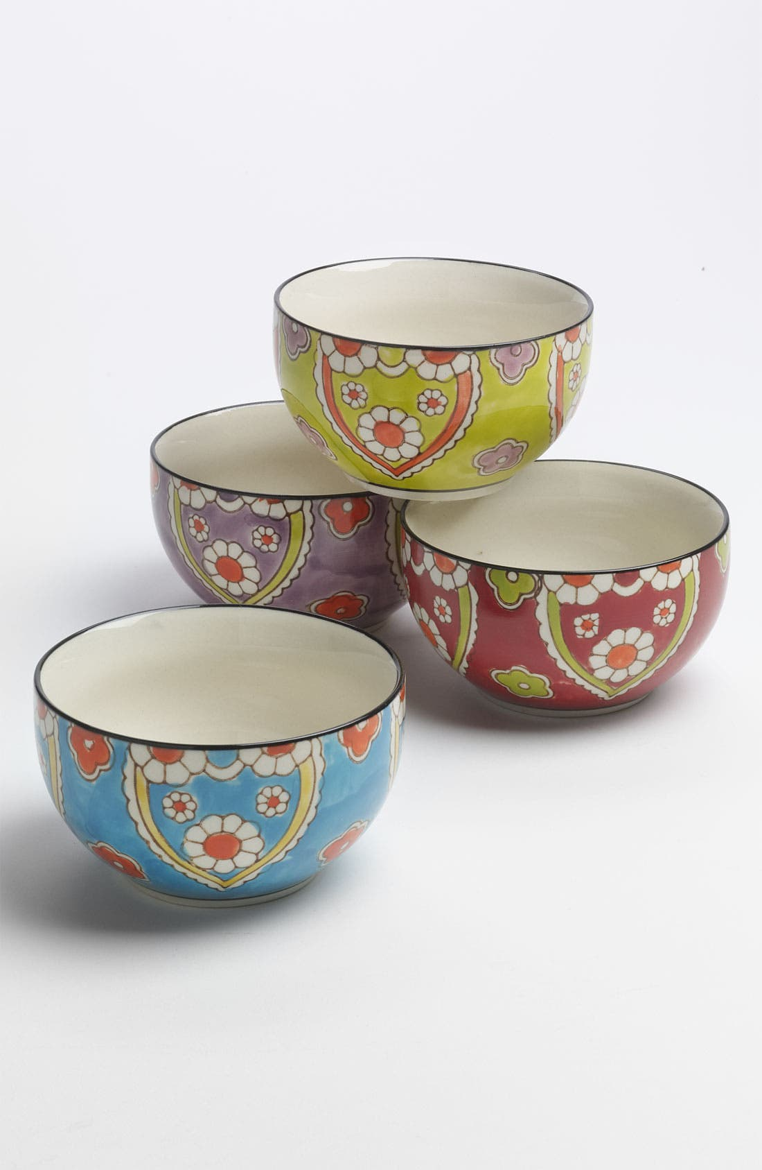 Main Image - Hand-Painted 'Lotus' Bowls (Set of 4)