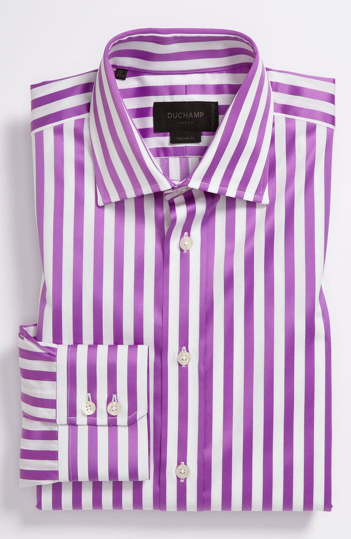 Duchamp tailored fit dress shirt nordstrom for Nordstrom custom dress shirts