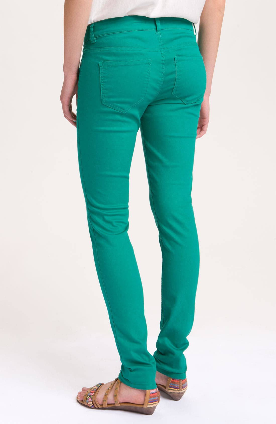 Main Image - Fire Skinny Jeans (Juniors)