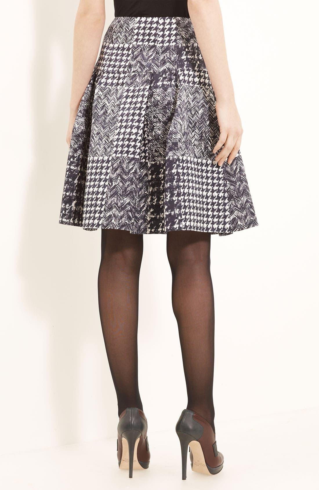 Alternate Image 2  - Oscar de la Renta Tweed & Matelassé Patchwork Skirt