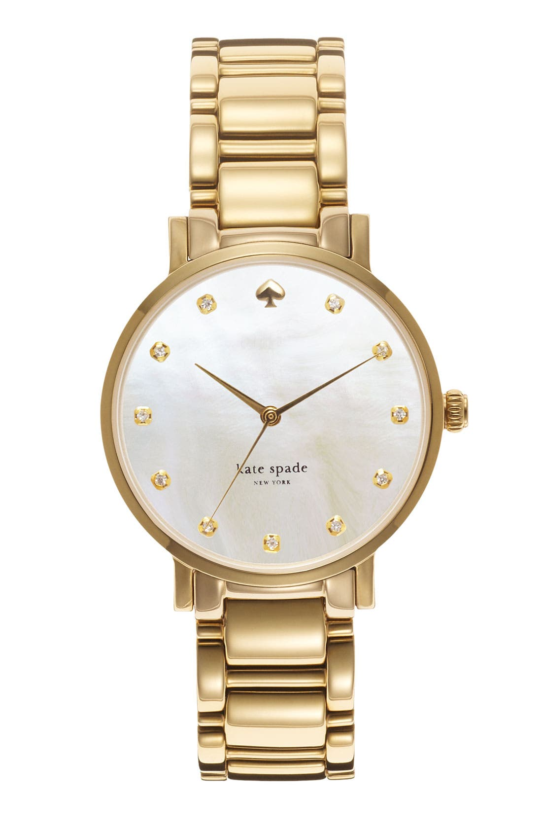 Main Image - kate spade new york 'gramercy' crystal marker watch, 34mm