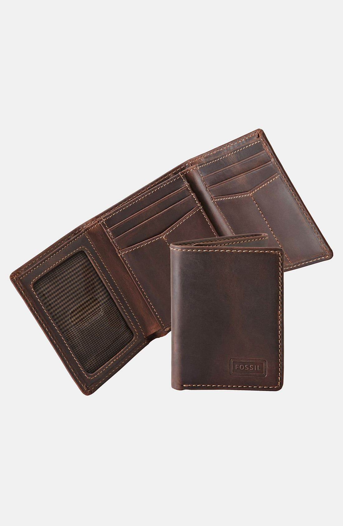 'Sam' Trifold Wallet,                         Main,                         color, Brown