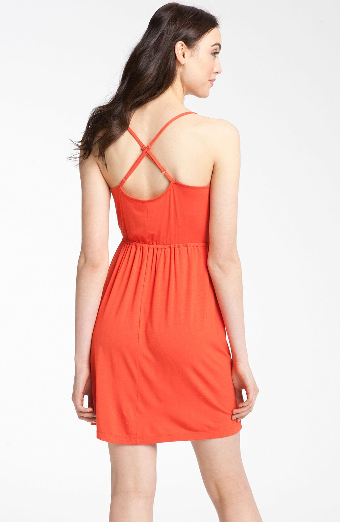 Alternate Image 2  - Caslon® Crossover Back Knit Dress
