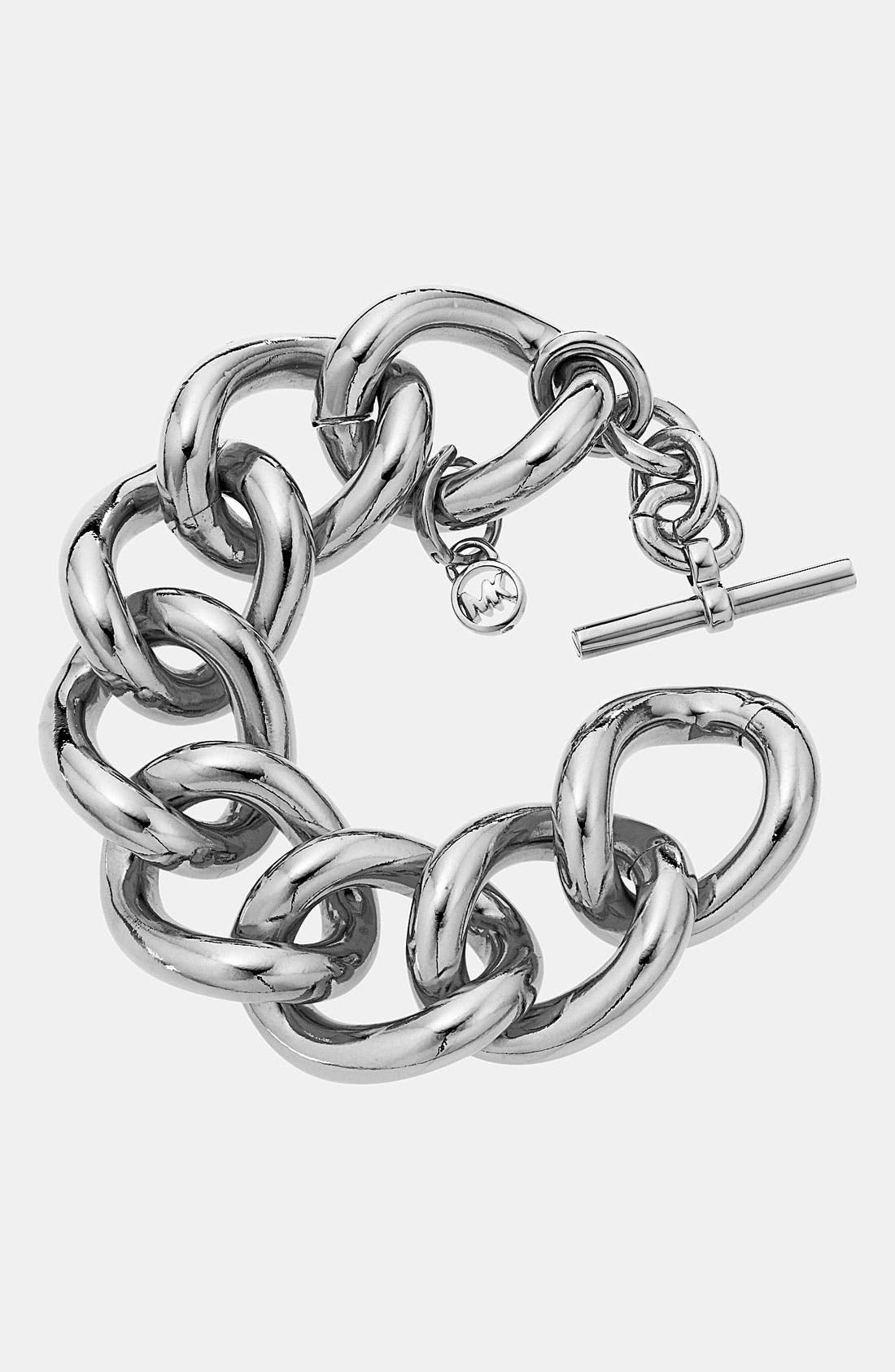 Alternate Image 1 Selected - Michael Kors 'Glam Classics' Chain Link Toggle Bracelet