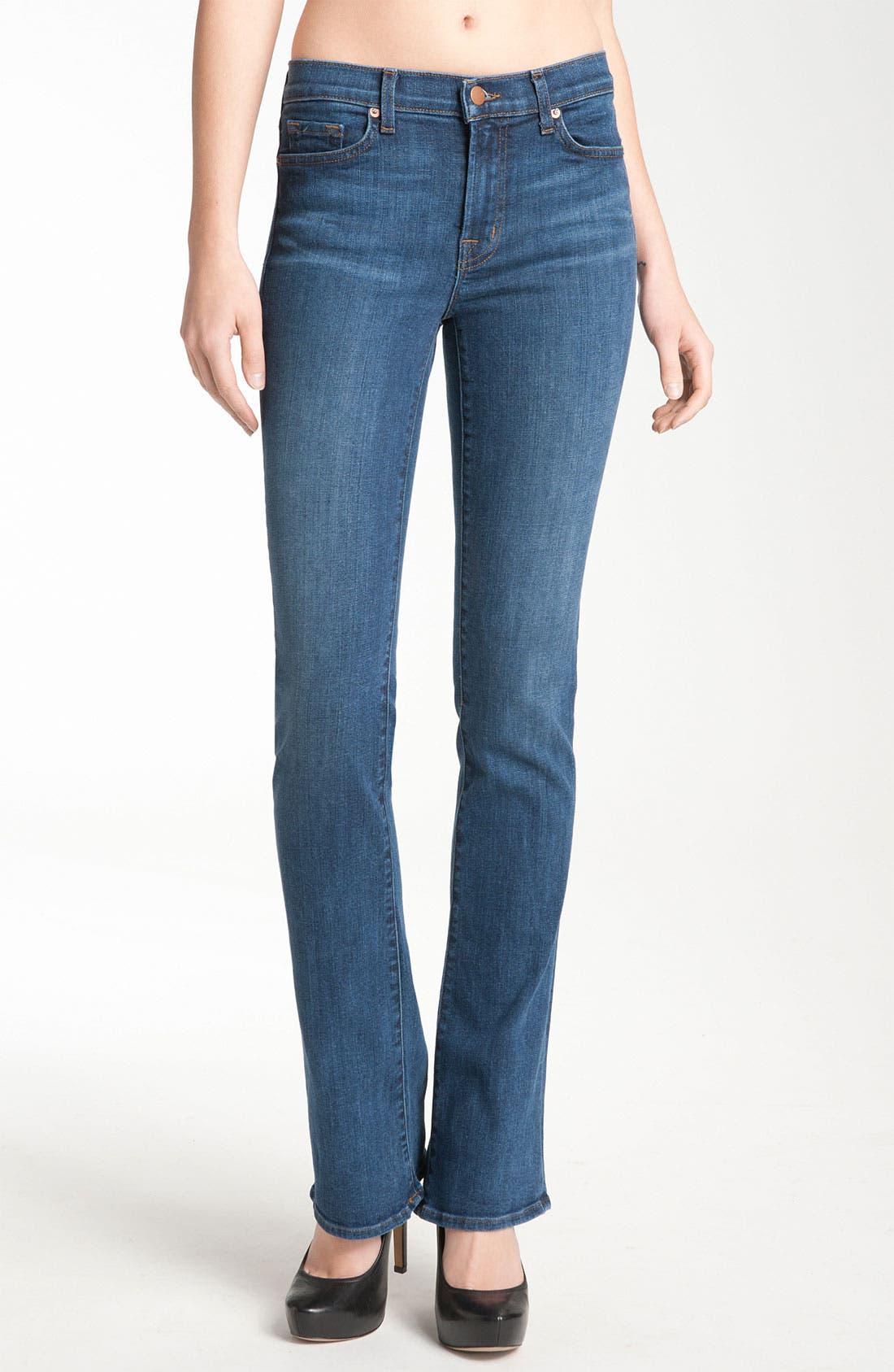 Alternate Image 1 Selected - J Brand 'Janey' Super Slim Bootcut Jeans (Bluebell Wash)