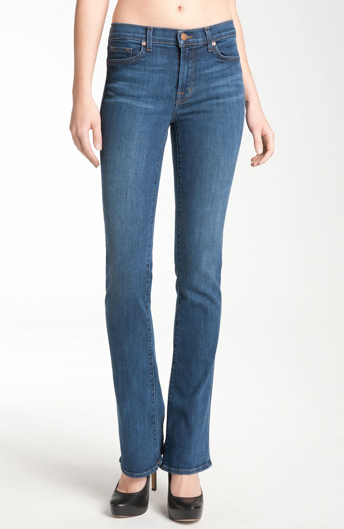 Main Image - J Brand 'Janey' Super Slim Bootcut Jeans (Bluebell Wash)