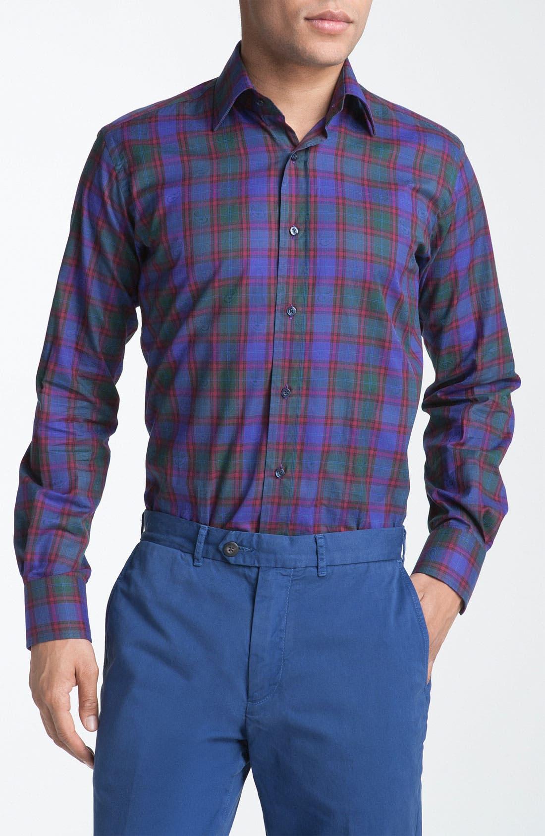 Main Image - Etro Plaid Dress Shirt