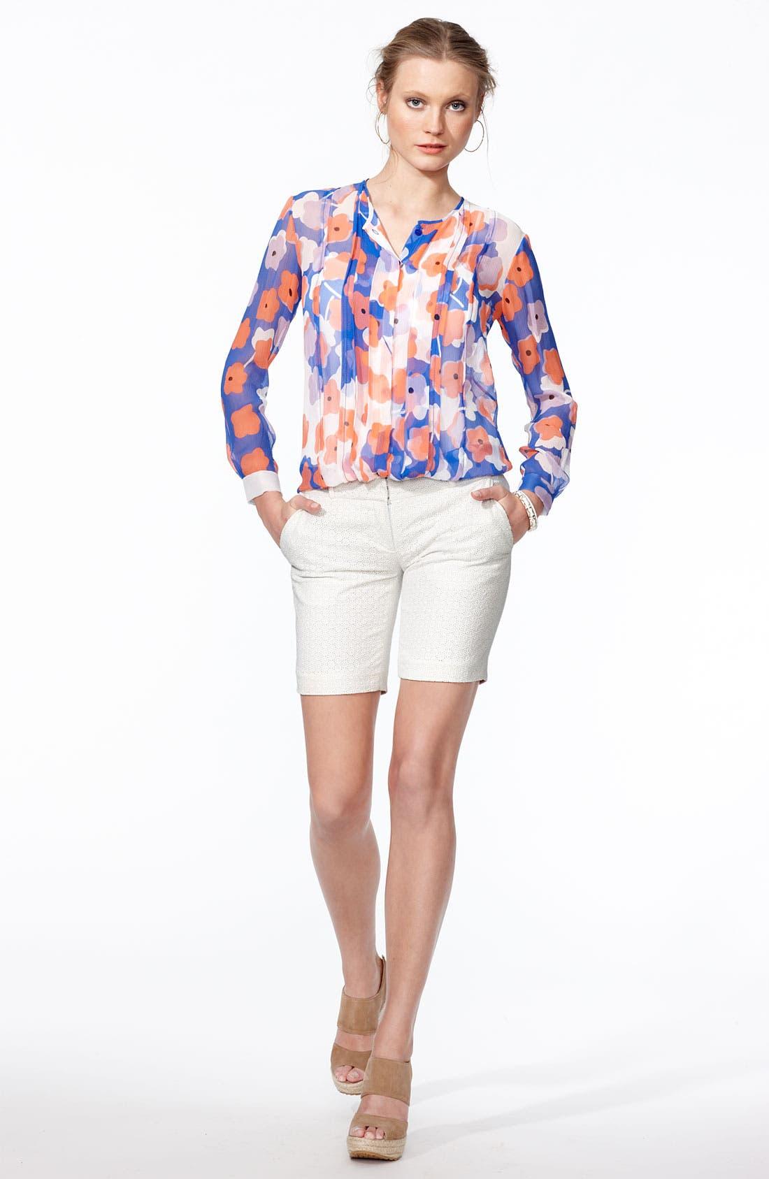 Alternate Image 4  - Diane von Furstenberg 'Francesca' Sheer Print Silk Blouse