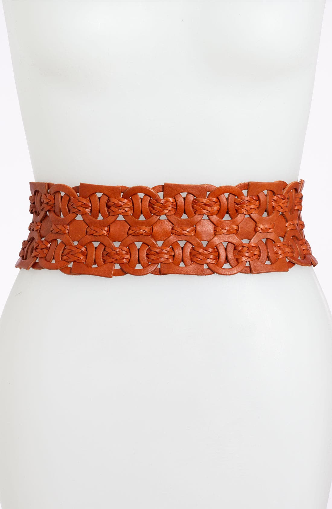 Alternate Image 1 Selected - Fina Firenze Woven Circle Stretch Belt