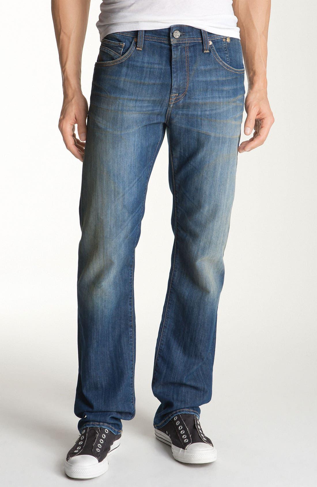 Alternate Image 2  - Mavi Jeans 'Zach' Straight Leg Jeans (Hazy Maui)