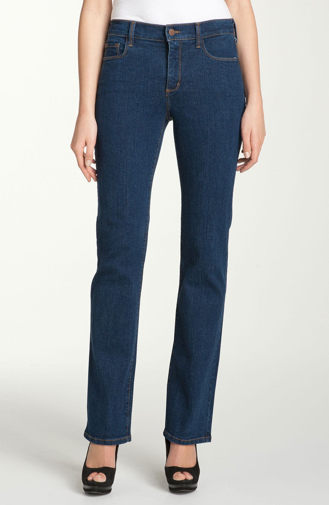 Alternate Image 1 Selected - NYDJ 'Marilyn' Stretch Straight Leg Jeans (Denim) (Regular & Petite)