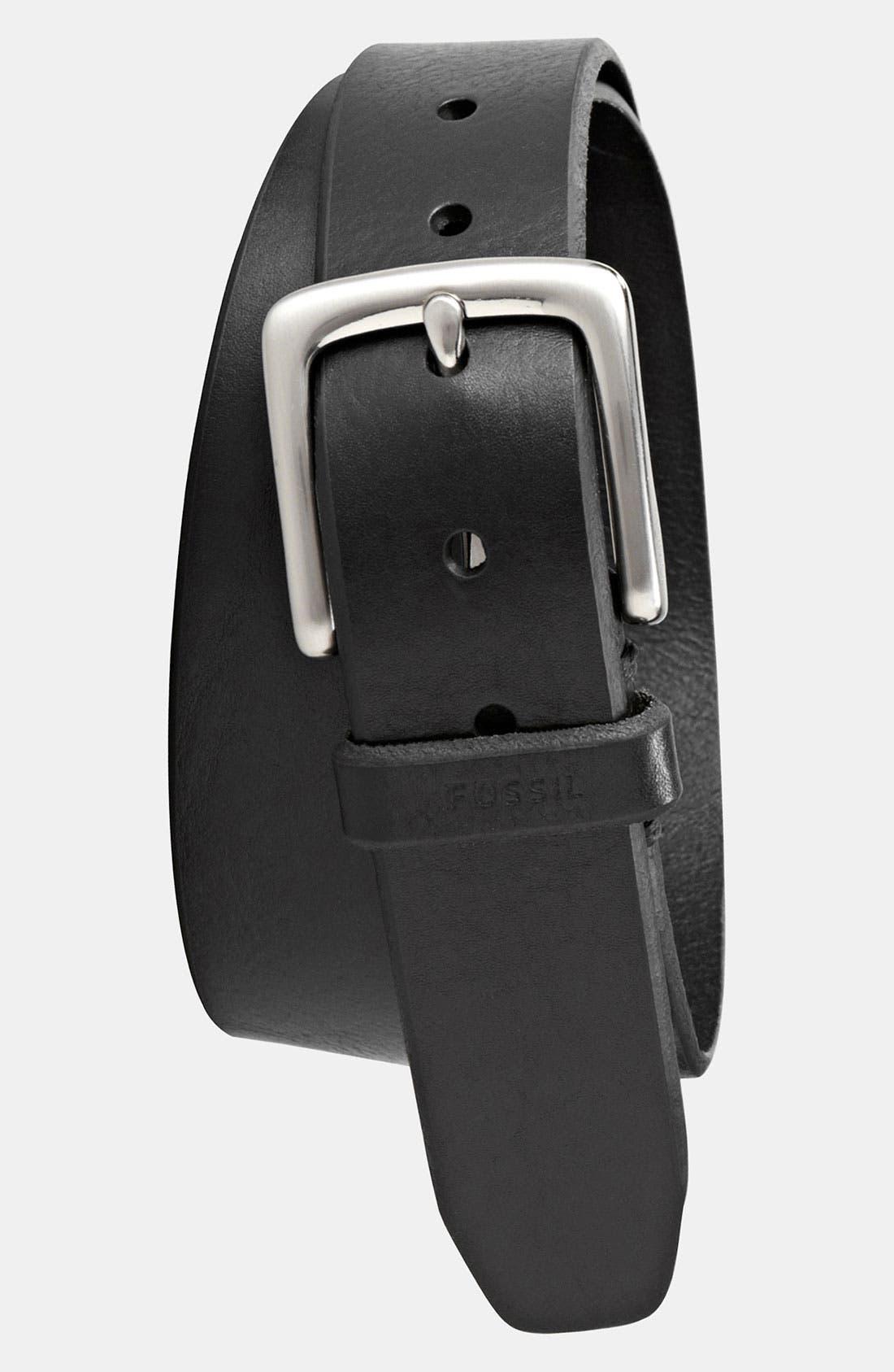 Main Image - Fossil 'Joe' Leather Belt