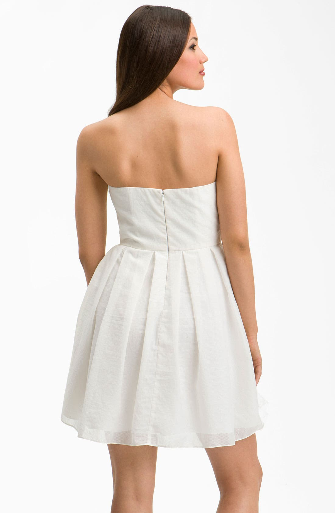 Alternate Image 2  - Jill Jill Stuart Sweetheart Neckline Bow Detail Dress