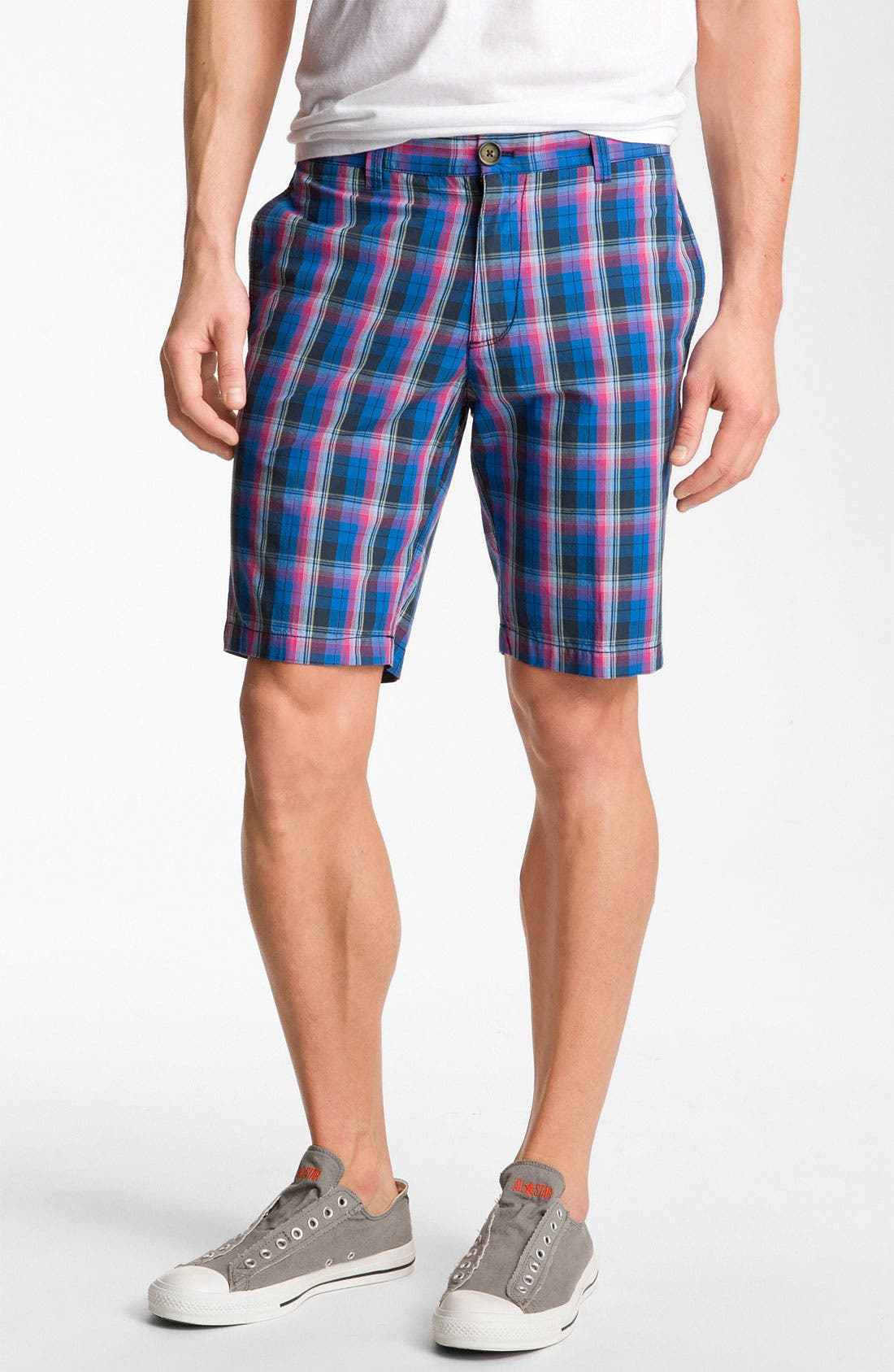 Main Image - Original Penguin 'Berson' Plaid Shorts