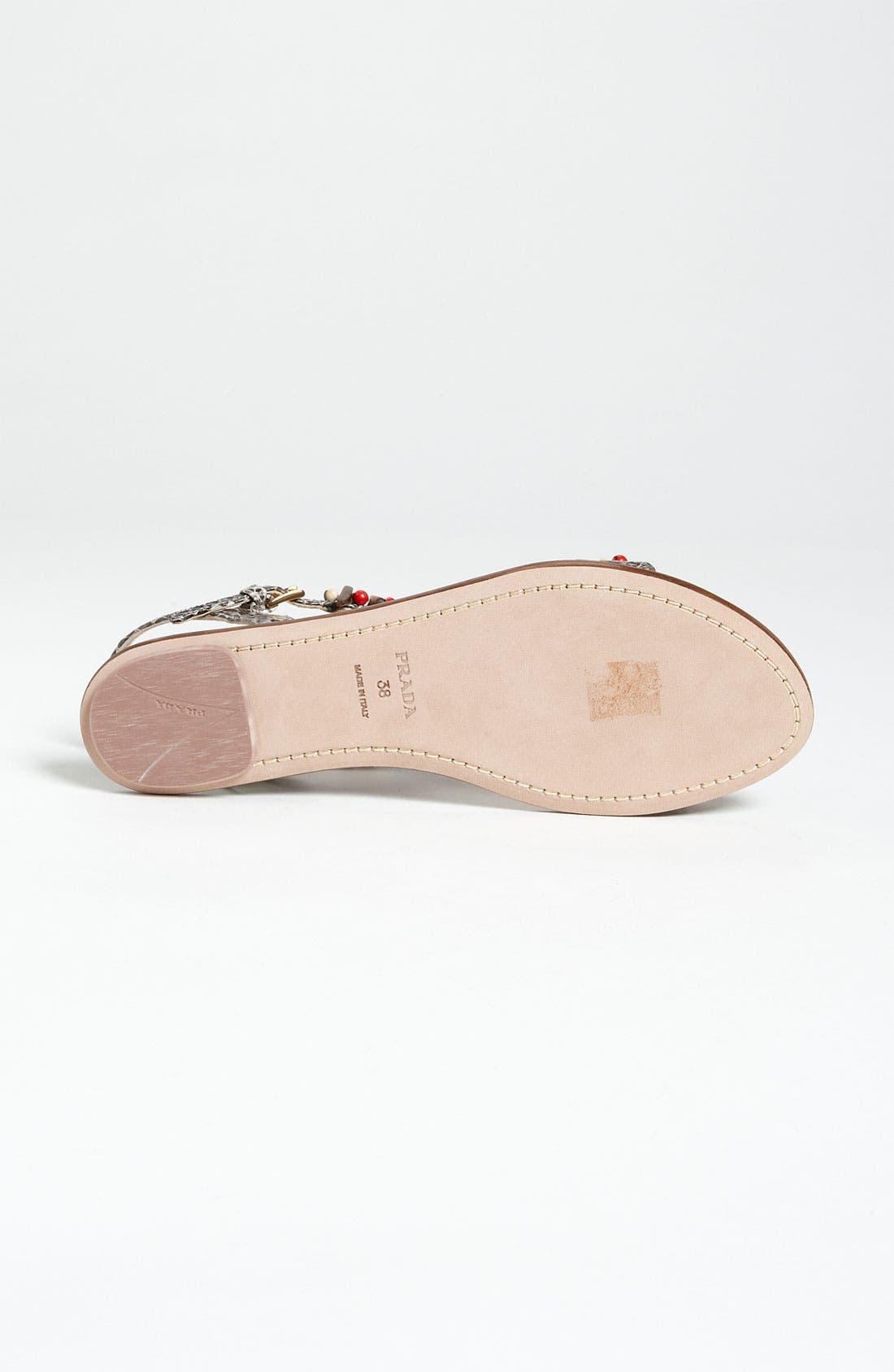 Alternate Image 4  - Prada T-Strap Flat Sandal