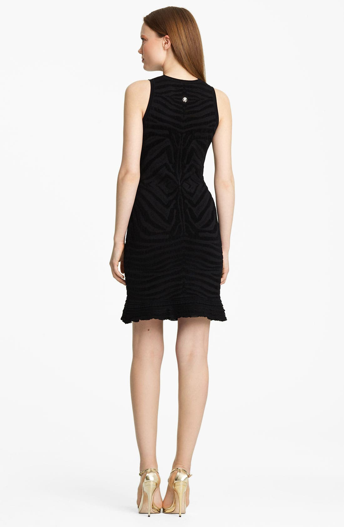 Alternate Image 2  - Roberto Cavalli Zebra Knit Dress